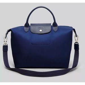 NWT.  Longchamp Neo NAVY BLUE Crossbody Medium